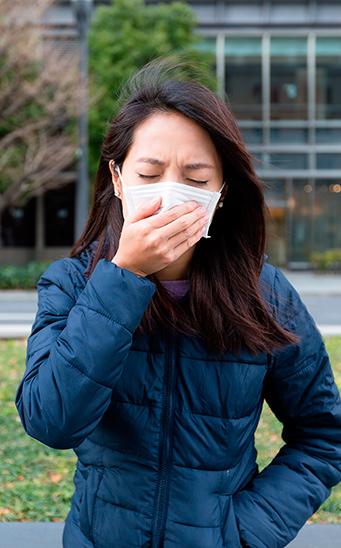 Prueba de presión en la cabeza alergias