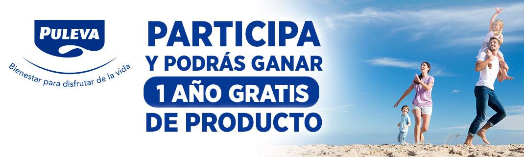 Participa y podrás ganar 1 año gratis de productos PULEVA