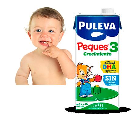Puleva Peques 3 recomendada para niños de 1 a 3 años