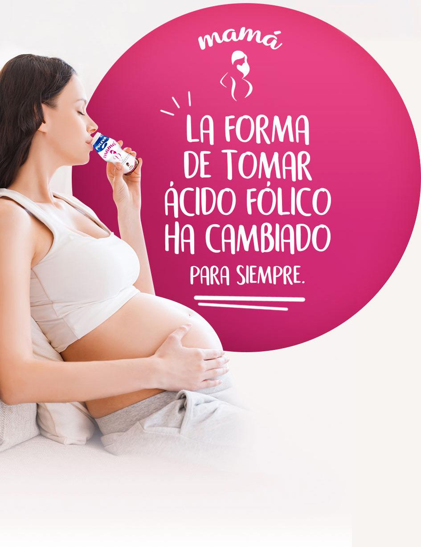 Toma ácido fólico para el embarazo con Puleva Mamá